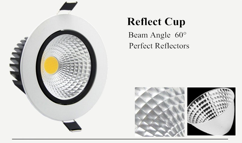 Dimmable 5W 7w 9w 12w LED COB Recessed Downlight LED Empotrables Ceiling Light Spot Light Lamp Home Indoor Lighting (4)