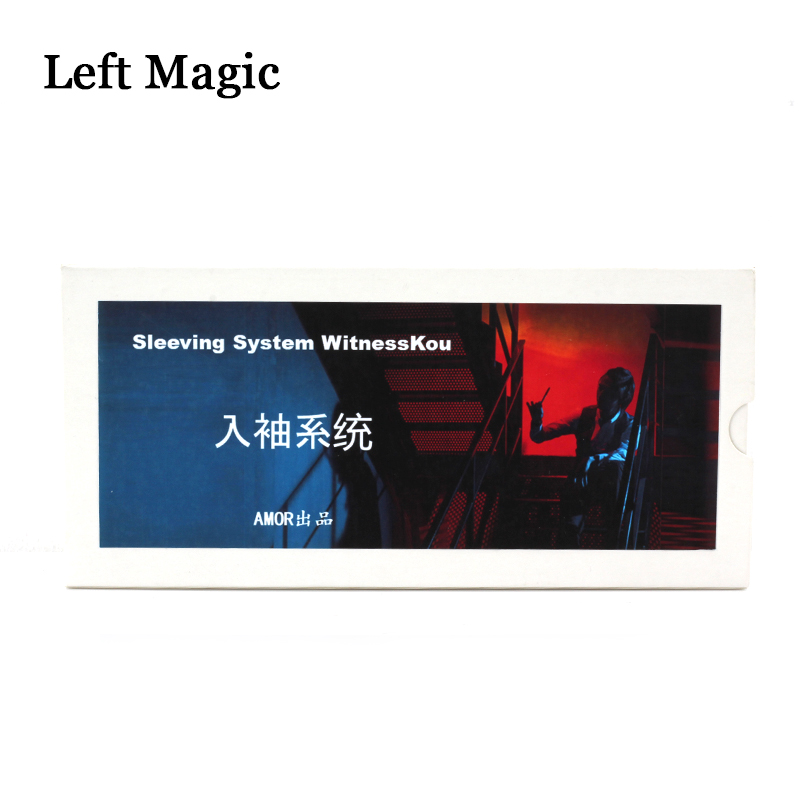 New Sleeving System By Witess Kou ( With Online Teaching Video )Magic Tricks Close Up Street  Pen Magic Props Mentalism