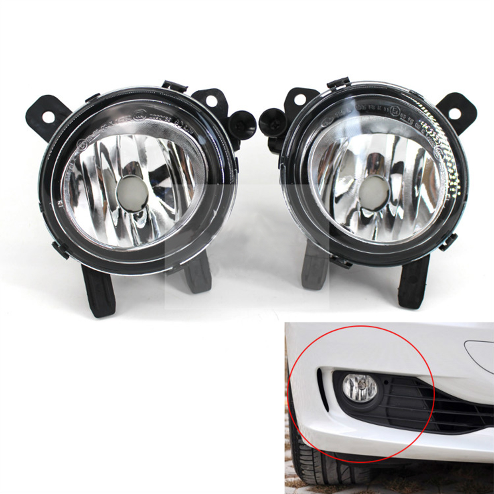 For BMW F30 F35 F20 F46 2004~2016 Auto Fog Lamp Convex Lenx Car Front Bumper Grille Driving Fog Lights 63177248911 63177248912 nordic modern iron herringbone branch pendant light glass ball bubble living room restaurant bedroom bar hanging lighting g4 led