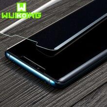WK УФ жидкости полный клей Экран протектор для samsung S10e S10 плюс полное покрытие закаленное Стекло для huawei Коврики 20 Pro P30 про фильм