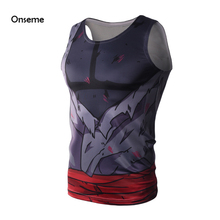 Cool Kakarotto Armour Fitness Tank Tops Anime Dragon Ball Z Black Goku 3D t shirt DBZ Crossfit Tops Men Women Bodybuilding Vest