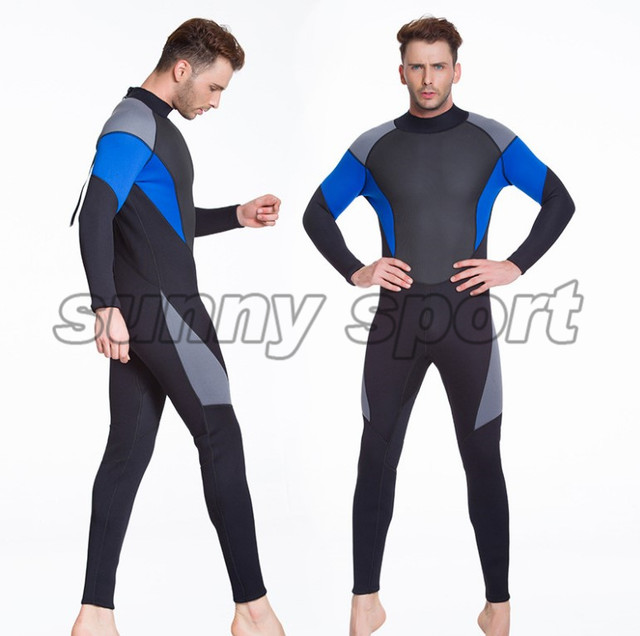 fa3f0bc9ba Diving suit outdoor 3mm semi dry diving suit neoprene one-piece wetsuit  free diving suit Men s stitching Large size