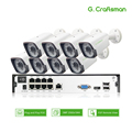 8ch 5MP POE Kit H.265 Systeem Cctv Up to16ch NVR Outdoor Waterdichte IP Camera Surveillance Alarm Video P2P G. craftsman