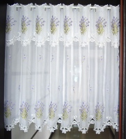Half Curtain Countryside Embroidered Valance Partition Curtain Customize Curtain For Kitchen Cabinet Door Free Shipping A