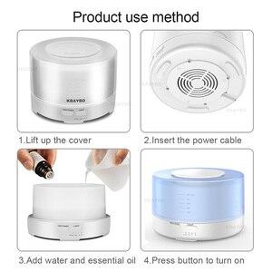 Image 5 - 500 Ml Siêu Âm Không Khí Thơm Máy Phun Sương Tạo Độ Ẩm 7 Màu Đèn LED Thay Đổi Và Kết Nối Bluetooth Phát Nhạc Điện Máy Khuếch Tán Tinh Dầu