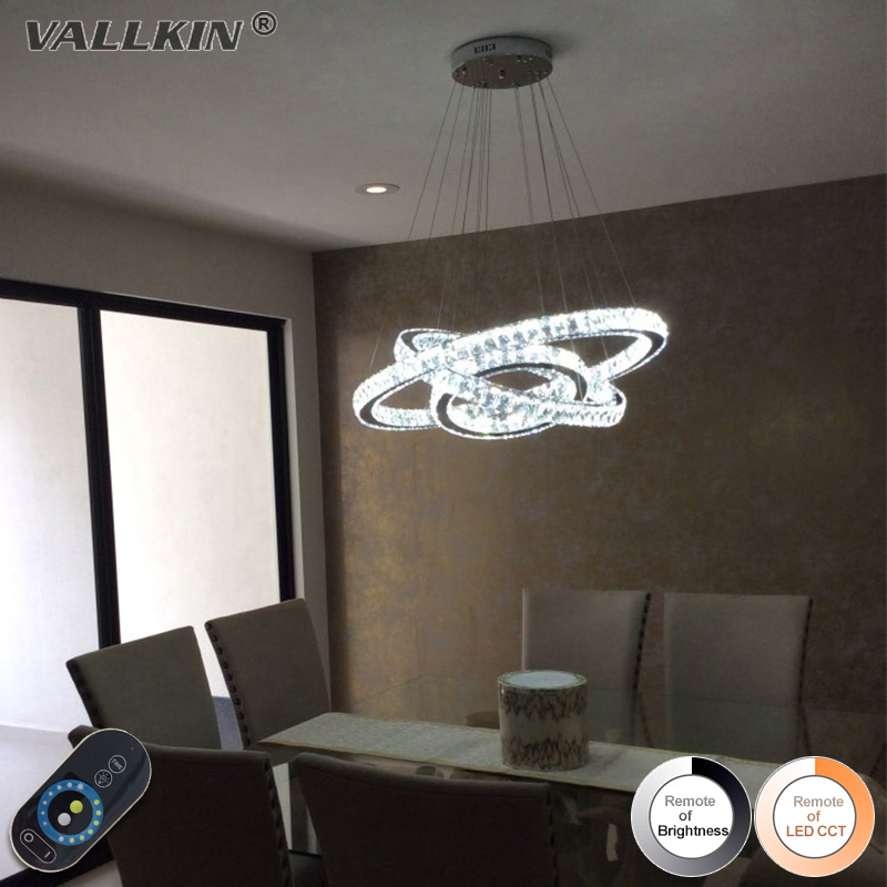 Modern Crystal Chandeliers Home Lighting Decoration LED Pendant Lamp Ring Hanging Lamps Indoor Fixtures with Remote Control modern crystal chandeliers home lighting decoration led pendant lamp ring hanging lamps indoor fixtures with remote control