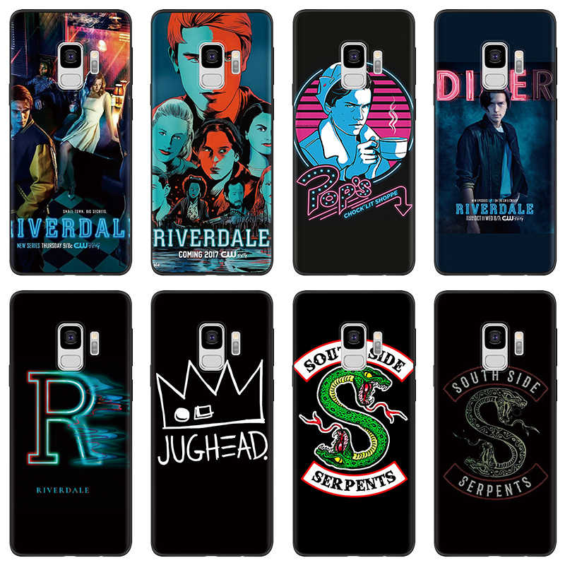 American TV Riverdale Southside Serpent Black Case For Samsung Galaxy A7 A5 A3 2017 2016 For Samsung S9 S8 S6 S7 Edge Plus Case