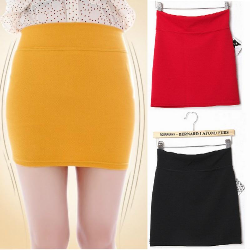 61fa95ce1c5 2019 D été Nouvelles Femmes jupes crayon Taille S-L Mode strech Fille Mince  Mini en une seule étape jupe solide couleur livraison directe bonbons  couleur