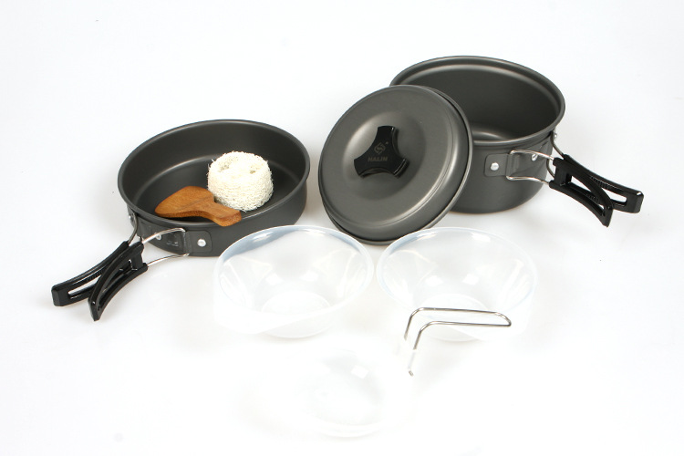 VILEAD Portable Outdoor Cookware Sets Camping Picknick Servies Pan - Kamperen en wandelen - Foto 2