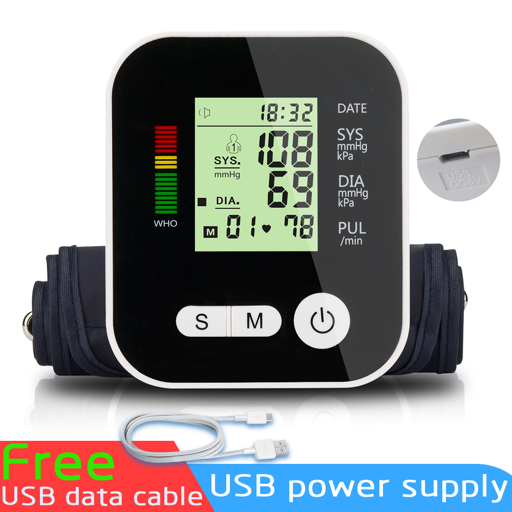 Hot Home Health Care Digital Lcd Upper Arm Blood Pressure Monitor Heart Beat Meter Machine Tonometer For Measuring Automatic