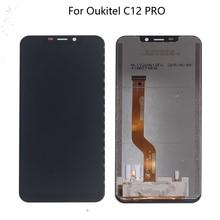 الأصلي ل OUKITEL C12 برو شاشة الكريستال السائل الزجاج شاشة باللمس على حامل قطع غيار محول رقمي ل Oukitel C12 برو شاشة عرض LCD شاشة الكريستال السائل