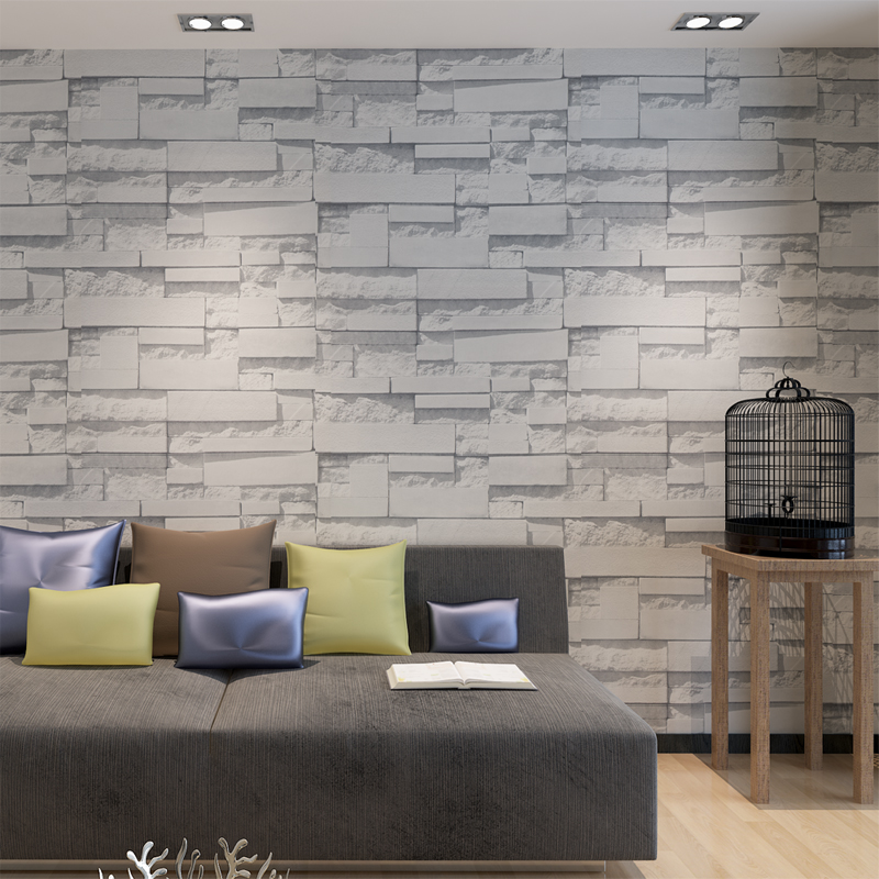 Hanmero 3d modern design brick wallpaper vinyl wall for 3d brick wall covering