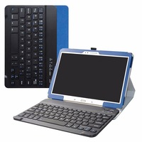 For 10.5 Samsung Tab S 10.5 T800 Removable Bluetooth Keyboard case,Portable Folding stand Pu Leather Case