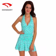 SWIMMART swimwear women covered belly piece steel plate gathered skirt style fashion swimming suit for swim