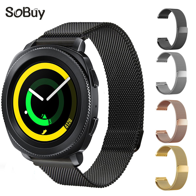 So buy for Samsung Gear sport S2 S3 Huawei intelligent watch strap stainless steel band magnetic wrist bracelet 23 mm 22 20 18mm