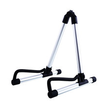 SEWS 2016 Hot Sale Ny Mode Foldbar Folding Akustisk Elektrisk Guitar Bass Stand Holder Gulv Universal