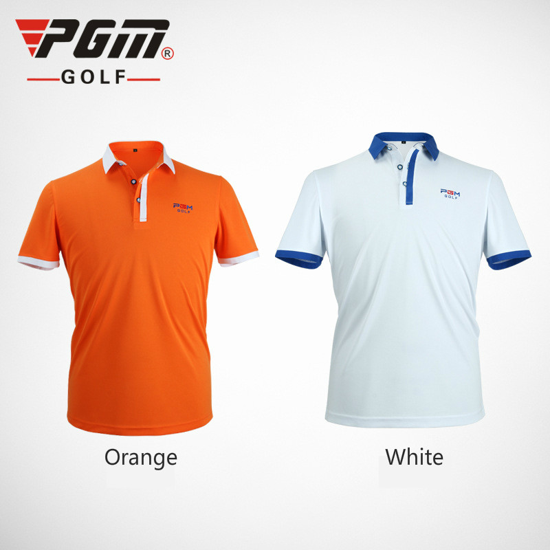 2018 PGM Male Polo Shirt Summer sport T shirts golf Training Garment Sports Short sleeve Breathable Quick-drying T shirt for men