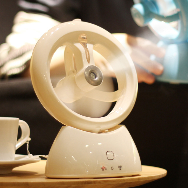 Mini Chargeable USB Electric Fan for Home Office Dorm Room Creative Portable Air Conditioner Small Fan with Spraying Humidifier energy saving electronic incense incense censer ceramic electric thermostat burning incense incense powder sawdust