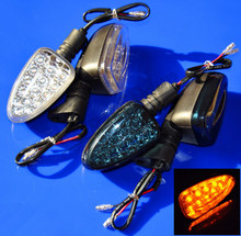 Motocicleta 15LED luz de intermitencia para G450X F650GS F800 R1200GS K1200 K1300S encendido indicadores de giro intermitentes Blinker Side Lamp