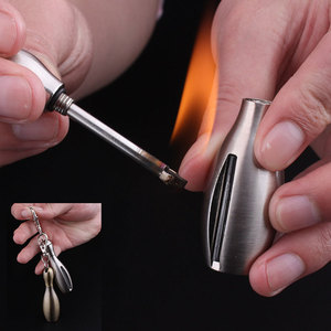 Torch Lighter Creative Stainless Steel Bowling Kerosene Oil Flame Lighter Million Matches Flint Fire Starter(China)