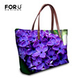 FORUDESIGNS Luxury Larger Handbags Women Tote Bags Dsigner Floral Print Handbag Ladies 2016 Handle Famous Brand Shoulder Bag