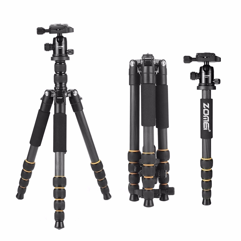 ZOMEI Q666 professional aluminum alloy SLR camera tripod portable digital camera tripod garda decor часы настольные на подставке