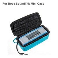 2 en 1 Caso Para Bose Soundlink Mini Altavoz Bluetooth 1/2 duro EVA Cubierta de la Caja de Almacenamiento de Equipaje Caja Suave TPU de Silicona Caso piel