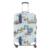 Artístico bagagem protector covers cobertura de bagagem para a menina 3D limpar poeira elastic spandex poliéster tampa do caso troley