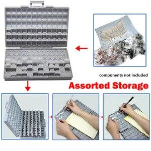 Image 5 - علب التخزين الإلكترونية AideTek SMD مزودة بمكثف مقاوم SMT ومنظم صندوق تخزين شفاف من البلاستيك