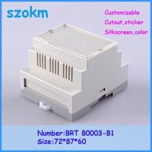 1 piece plastic enclosure for electronic  din rail plastic case electronics 72x87x60 mm