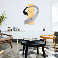 Big Wooden Wall Clock European Silent Modern Design Decorative Hanging Wall Clock Watches For Home Decor