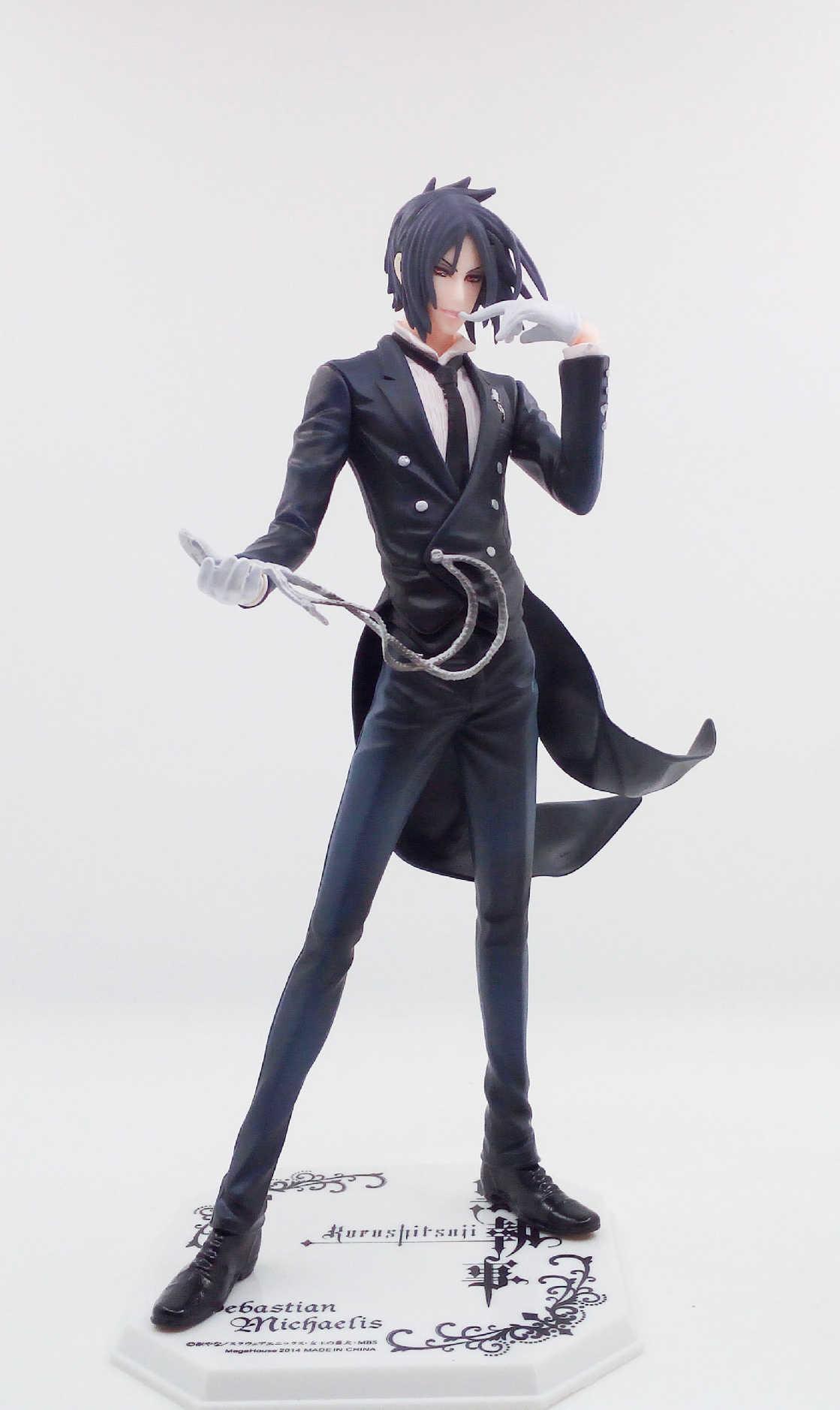 23cm negro Butler Devil Sebastian Michael acción Anime libro de circo Undertaker figura PVC modelo muñeca regalo juguete