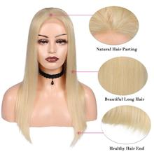 613 4*4 Lace Closure Human Hair Wigs Blonde Color Lace Front Wig For Women Brazilian Straight Human Hair Glueless Lace Wig HANNE