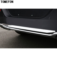 TOMEFON ABS Chrome For Jeep Cherokee 2014 2015 2016 Outer Rear Trunk Bumper Guard Threshold Pad