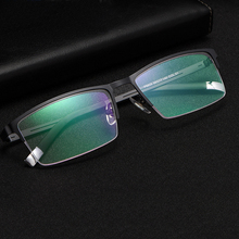 Handoer Semi-Rimless Optical Glasses Frame for Men Eyewear Spectacles Prescription Business