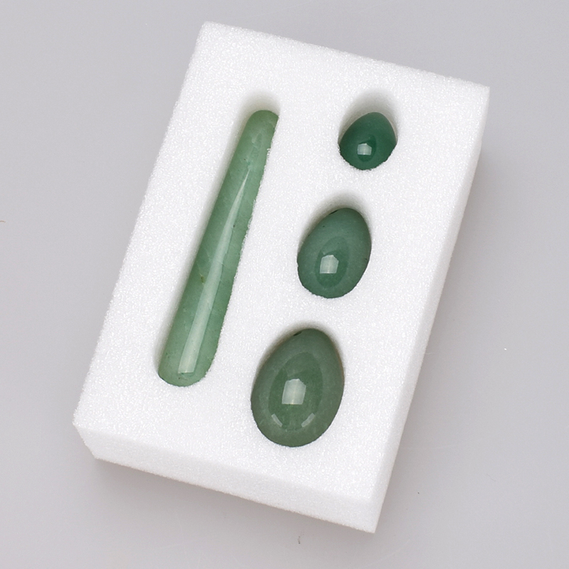 Yoni Egg Set 11cm Crystal Massage Wand Green Aventurine Jade Ägg Ben Wa Ball Yoni Wand For Women Kegel Exerciser Vaginal Ball