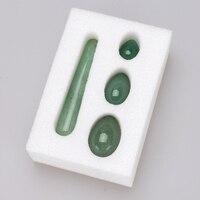 Drilled Yoni Egg 11cm Crystal Massage Wand Green Aventurine Ben Wa Ball Jade Eggs Magic Wands