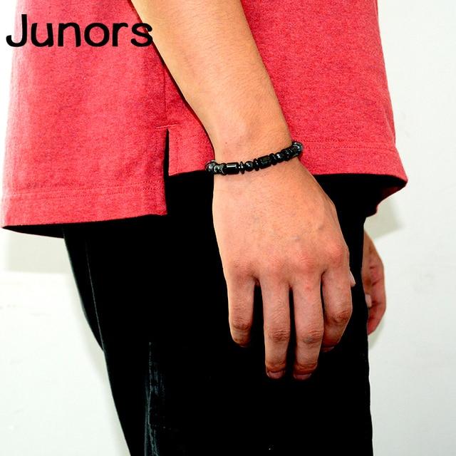 Multilayer Magnet charms slimming health men bracelet Magnet Black Stone beads Magnetic Bracelets for Women Weight Loss Gifts 1