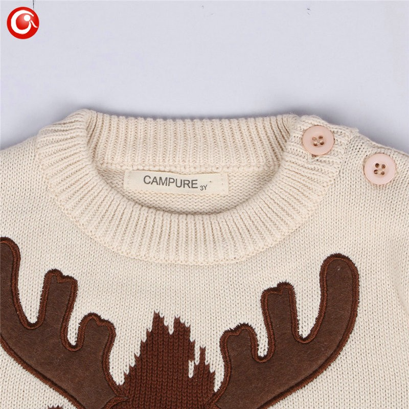 1-5y 2016 AutumnWinter Fashion Toddler Kids Girls Deer Sweater Long Sleeve Crochet Knitted Top For Christmas Kids Boys Cardigan (4)