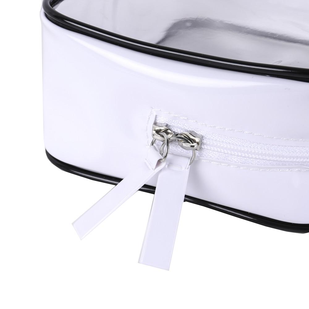Купить с кэшбэком DEZEMIN Lady Dual Zipper Elegent Cosmetic Bag Makeup Organizer 17x11.5x6cm (New version, Sewing zipper)