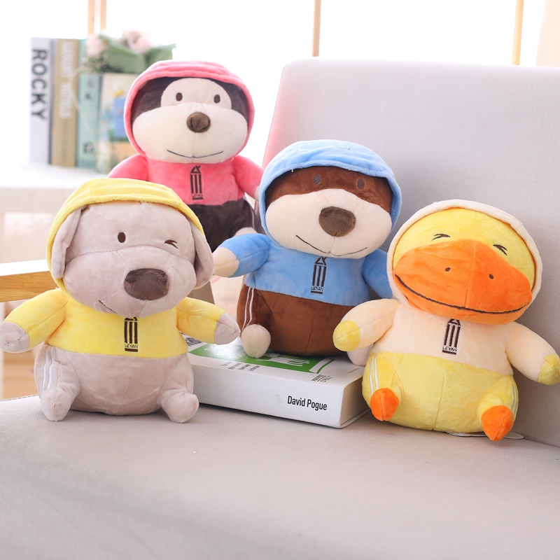 New Duck Plush Toys Soft Stuffed Animal Monkey Dolls
