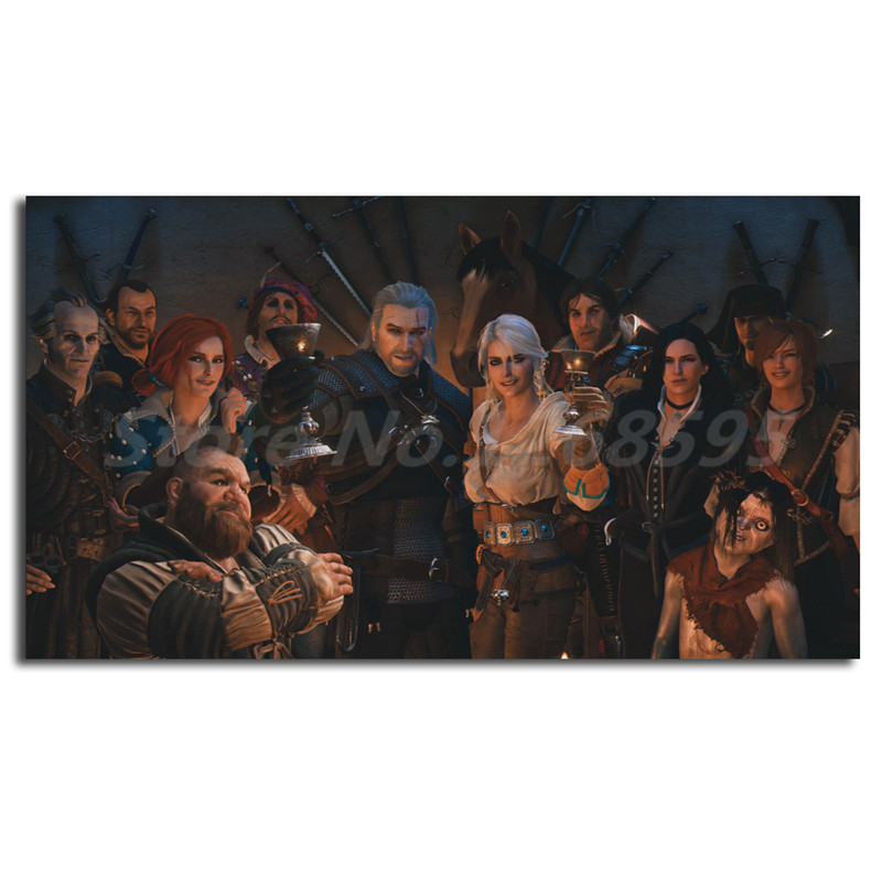 US $5 7 5% OFF|The Witcher 3 Wild Hunt Happy Ending Mod HD Canvas Painting  Print Living Room Home Decor Modern Wall Art Oil Painting Poster -in