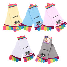 1Pair Women Socks Chic Cute Casual Five Toe Crew Athletic Finger Performance Original Weight Micro Cotton New Arrival