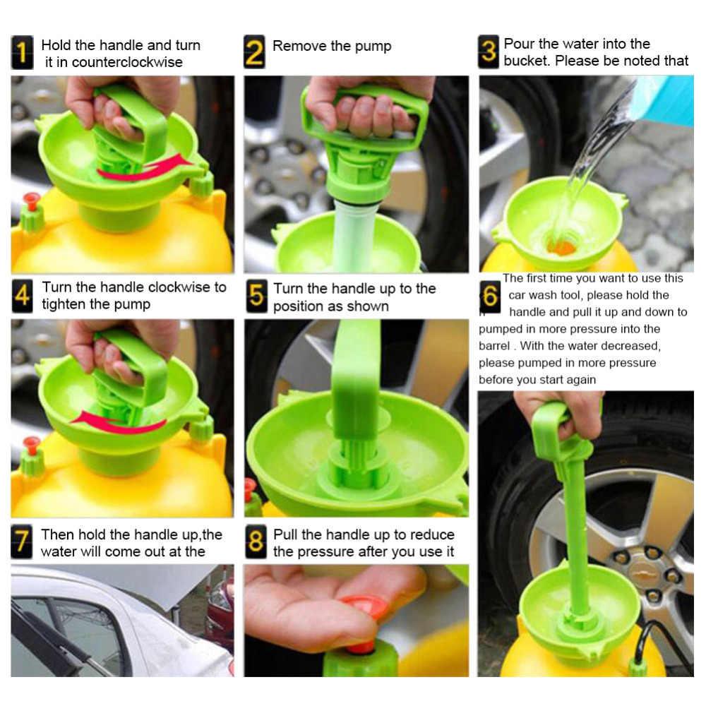 8L Portable Rumah Tangga Mobil Washer Tekanan Tinggi Mesin Cuci dengan Sikat