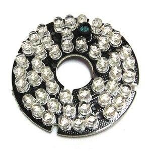 48 светодиодов 5 мм Инфракрасный ИК 90 градусов плата лампы 850нм осветитель 48 светодиодов для камеры видеонаблюдения