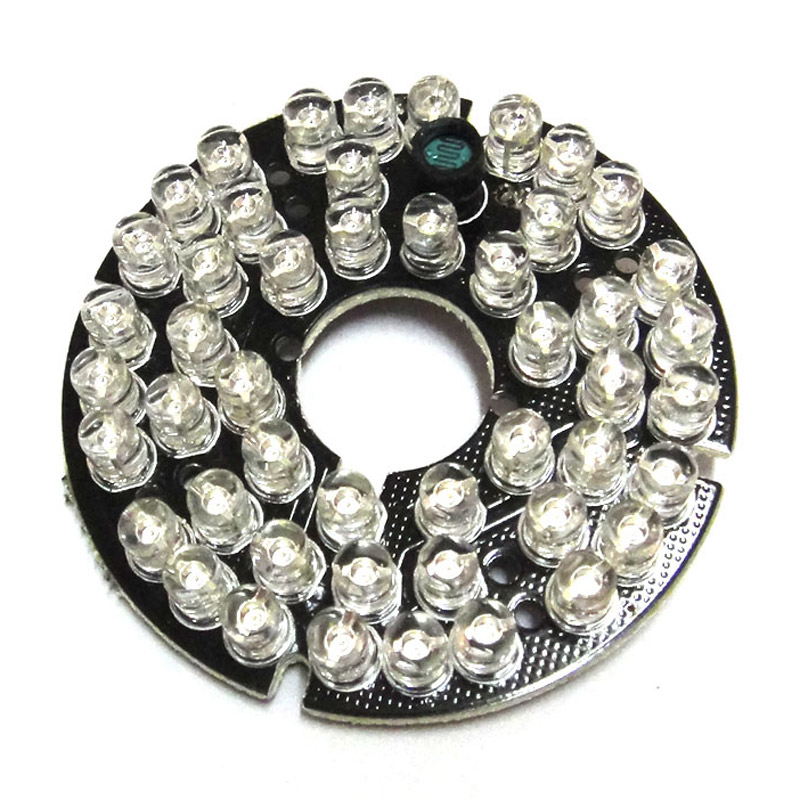 48 LEDs 5mm Infrared IR 90 Degrees Bulb Board 850nm Illuminator 48Leds For CCTV Camera ir illuminator 48led dc12v 850nm white