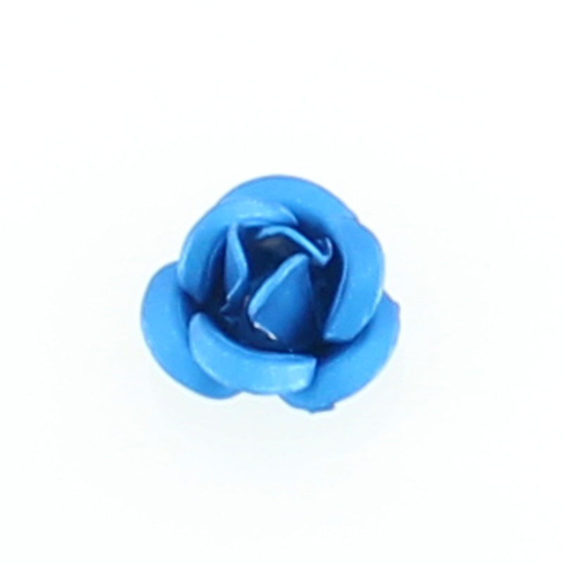 Light Blue Rose Floating Locket Charm NEW