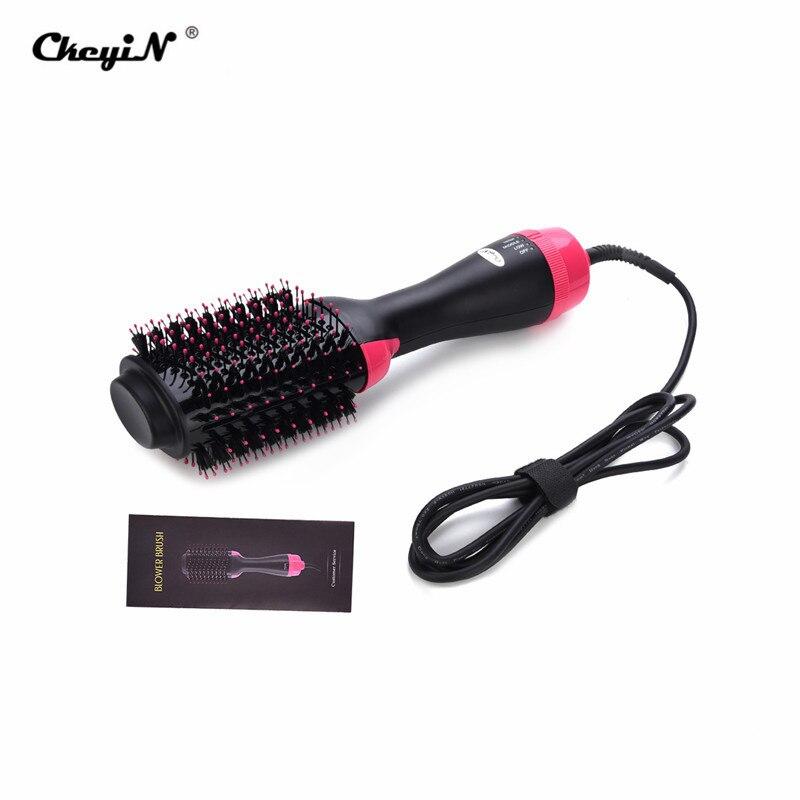 Professional 2 In 1 Hair Dryer Volumizer Rotating Hair Brush Roller Anion Styler Comb Styling Straightener Curling Hair Brush Revlon Pro Collection Salon One-Step Hair Dryer and Volumizer
