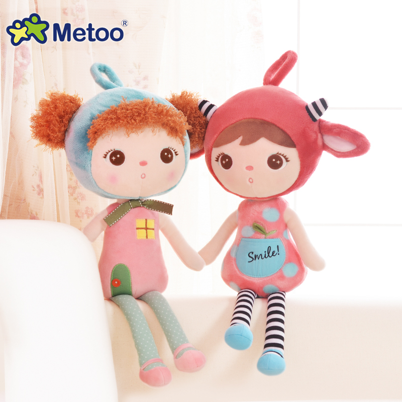 45cm New Plush Dolls Sweet Cute Lovely Stuffed Baby Kids Toy for Girls Birthday Christmas Gift Cute Girl Keppel Baby Metoo Dolls tales of xillia elise lutus teepo plushie handmade stuffed plush toy cosplay props 45cm