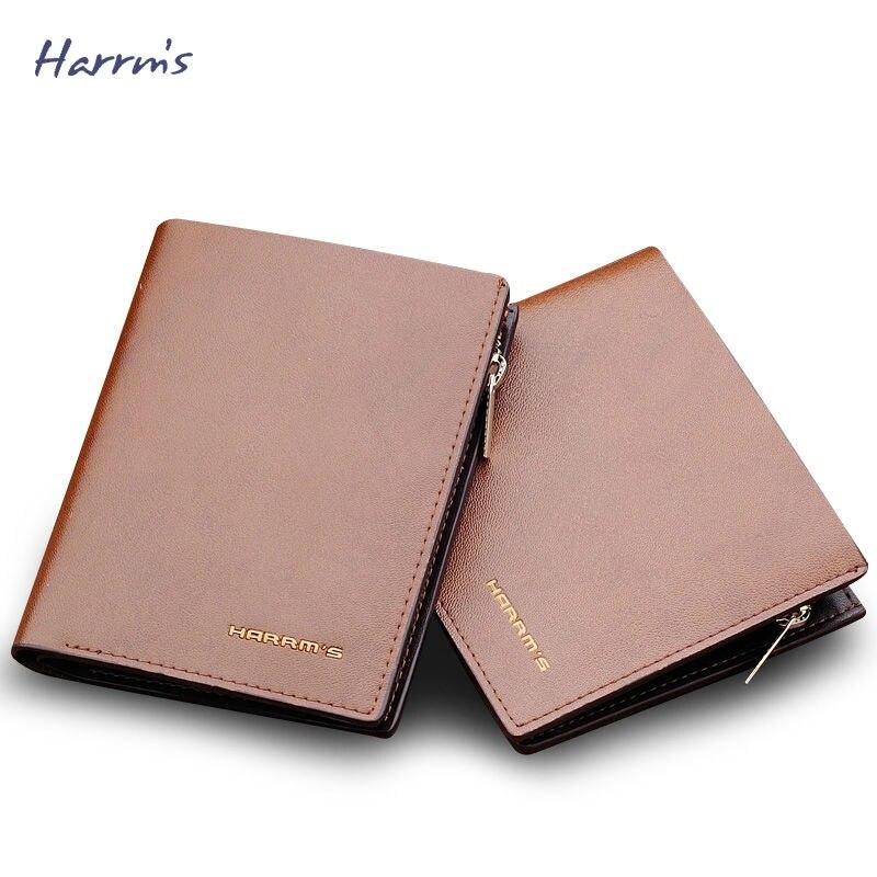 harrms homens carteira de couro Altura do Item : 9.9cm